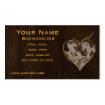 Special Leather-Look Heart Dark Pack Of Standard Business Cards