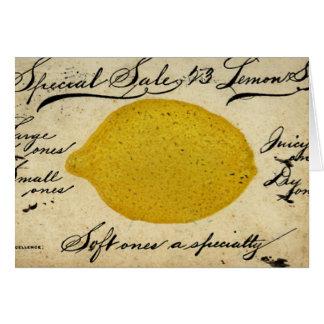 Special Lemons -1897 Card