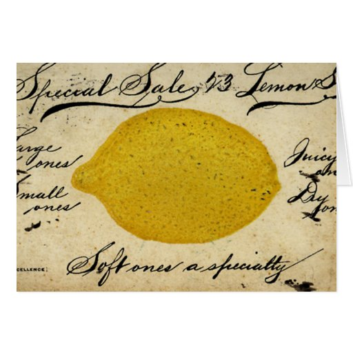 Special Lemons -1897 Greeting Cards