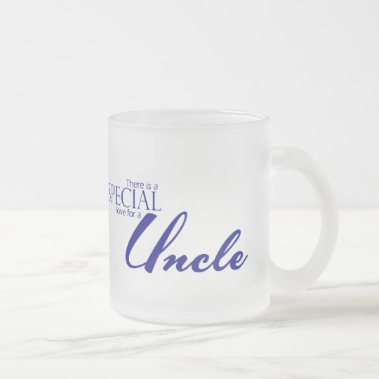Special Love For Uncle Frosted Glass Coffee Mug