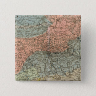 Special Map of Giant Mountains 15 Cm Square Badge