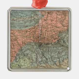 Special Map of Giant Mountains Christmas Ornament