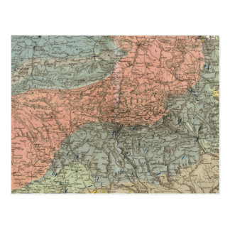 Special Map of Giant Mountains Postcard