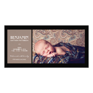 Special Moment Photo Baby Birth Announcement Card