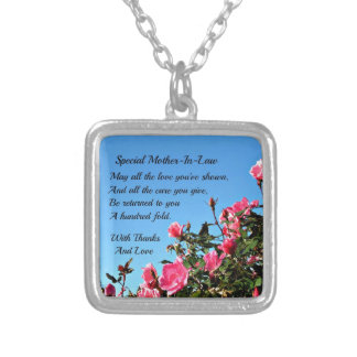 Special Mother-in-law Square Pendant Necklace