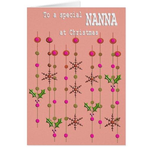 Special Nanna at Christmas Card