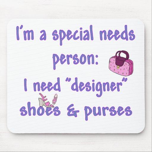 Special Needs - Designer Shoes & Purses Mouse Mat