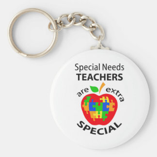 SPECIAL NEEDS TEACHER BASIC ROUND BUTTON KEY RING