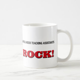 Special Needs Teaching Assistants Rock Classic White Coffee Mug
