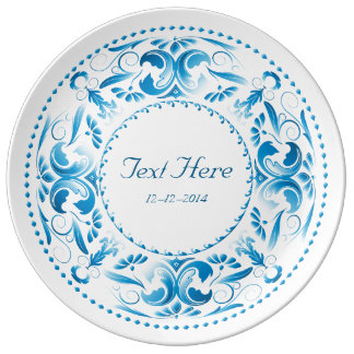 Special Occasion Bright Blue Medallion - Plate