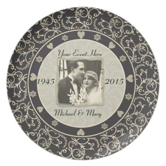 Special Occasion Customisable Wedding Photo Frame Plate