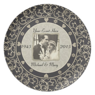 Special Occasion Customizable Wedding Photo Frame Plates