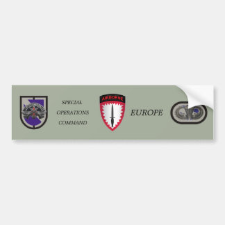 SPECIAL OPERATIONS COMMAND EUROPE BUMPER STICKER