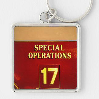 special operations firetruck 17 sign key chain