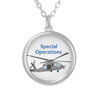 Special Operations Round Pendant Necklace