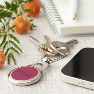 Special oval keychain Silver-Colored oval key ring