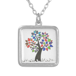 Special pendant, for a special person silver plated necklace