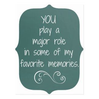 Special People and Favorite Memories Quote Postcard