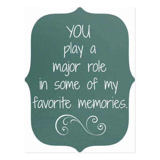Special People and Favourite Memories Quote Postcard