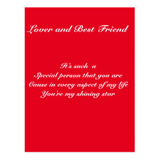 Special person postcard