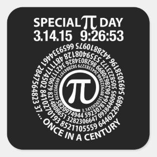 Special Pi Day 2015, Spiral Square Sticker