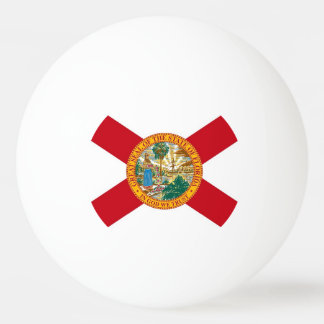 Special ping pong ball with Flag of Florida