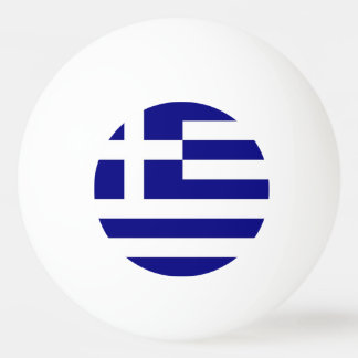 Special ping pong ball with Flag of Greece