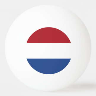Special ping pong ball with Flag of Netherlands