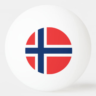 Special ping pong ball with Flag of Norway