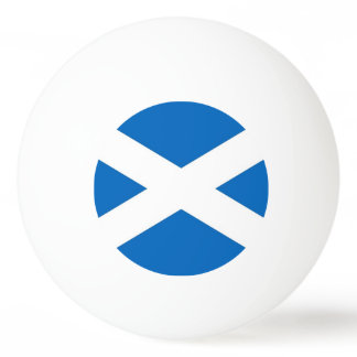 Special ping pong ball with Flag of Scotland