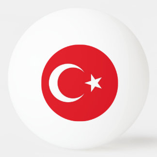 Special ping pong ball with Flag of Turkey