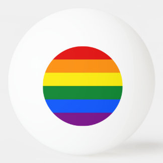 Special ping pong ball with Pride Flag of LGBT