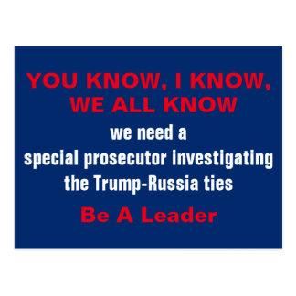Special Prosecutor into Trump-Russia Ties Postcard