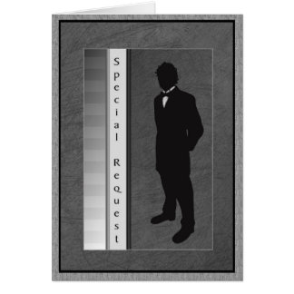 Special Request Wedding Groom Card