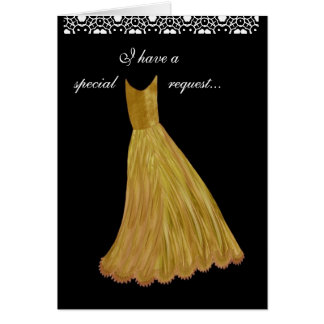 SPECIAL REQUEST - Wedding Invitation GOLD Gown