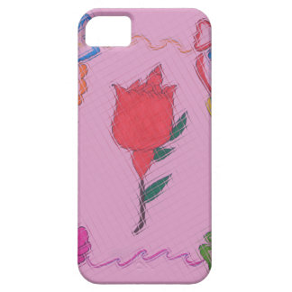 Special Rose Tile Art Graphic Design Barely There iPhone 5 Case