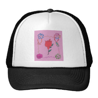 Special Rose Tile Art Graphic Design Cap