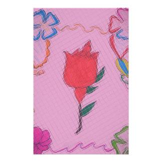 Special Rose Tile Art Graphic Design Custom Stationery