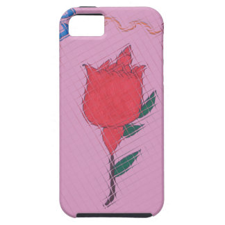 Special Rose Tile Art Graphic Design iPhone 5 Cover