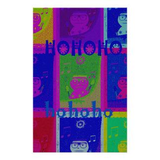 Special  Santa HoHoho Pop Art colors Personalised Stationery