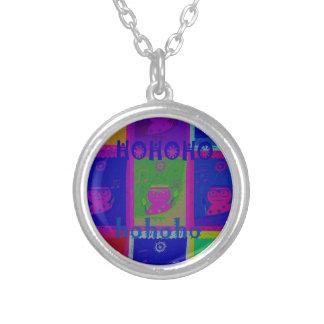 Special  Santa HoHoho Pop Art colors Round Pendant Necklace