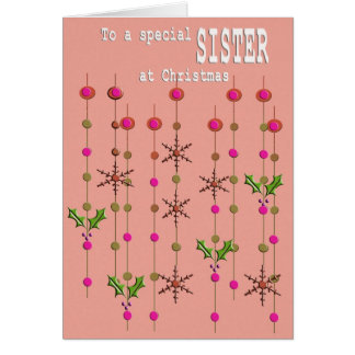 Special Sister Christmas Card
