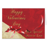 Special Sister-in-Law Gold and Red Filigree Heart