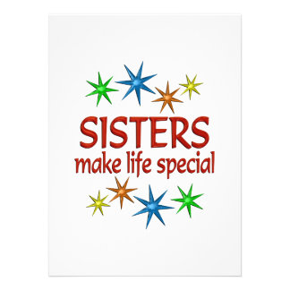 Special Sister Personalized Announcement