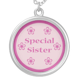 Special Sister Round Pendant Necklace