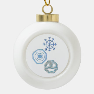 Special Snowflake Bauble Ceramic Ball Christmas Ornament