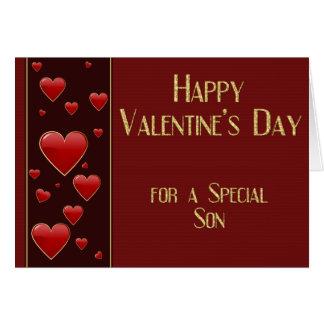 Special Son Masculine Valentine Card