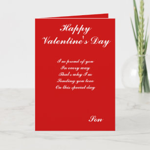 Valentines For Son Cards Zazzle Uk