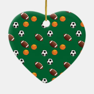 Special Sports Motifs Christmas Ceramic Heart Decoration