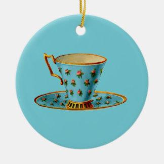 Special Tea Party Round Ceramic Decoration